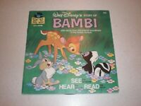 WALT DISNEY Story Of BAMBI Read Along Book And Record 1977 #309