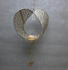 Formano Windlicht Hänger Herz Teelicht Rose Metall Prado Geschenk Sommer