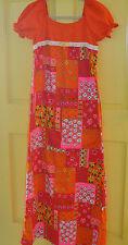 SEARS vintage HAWAIIAN FASHIONS Hippy Flower Child Dress Med-Sml Coachella Fest