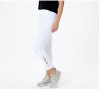 Susan Graver Weekend Regular Premium Stretch Pull-On Crop Pants White 1X