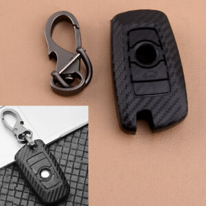 Carbon Fiber Style Remote Key Shell Fob Case Cover Fit For BMW 1 3 4 5 6 7 serie