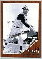 BOB PURKEY CINCINNATI REDS 1962 STYLE CUSTOM MADE BASEBALL CARD BLANK BACK