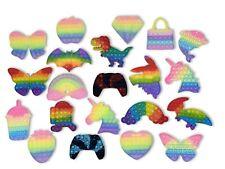 ?? Popit Pop it Fidget Toy Spielzeug Anti-Stress Popits Rainbow Einhorn Dino ??