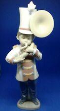"Lladro, Spain ""Tuba Player"" # 6303 "" Boy Playing Tuba"" ~10""Tall Mint"