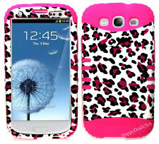 KoolKase Hybrid Silicone Cover Case for Samsung Galaxy S3 - Leopard Pink