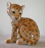 Lomonosov PORCELAIN Figurine Leopard CUB