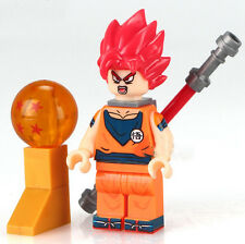 Dragon Ball Z  Minifigure GOKU Super Saiyan God Red movie tv show cartoon