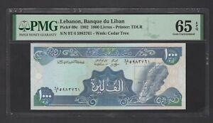 Lebanon 1000 Lira 24-11-1992 P69c Uncirculated Grade 65