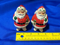 Napco PAIR 2 Santa Claus Xmas Candle Holder VTG Mid Century Japan Rare Toilet