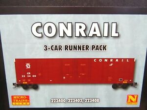 MICRO-TRAINS N SCALE 993 00 181 CONRAIL 60' EXCESS HEIGHT BOXCAR  3 PACK