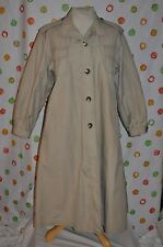 CORTEFIEL FEMINI Sexy  Khaki TRENCH ALL WEATHER OVER COAT WOMEN 14 euc