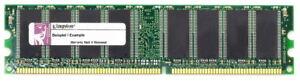 1GB Kit (2x 512MB) Kingston DDR1 PC2700U 333MHz CL2.5 Memory KVR333X64C25K2/1G