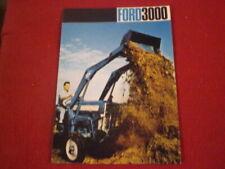 BROCHURE  PUBLICITAIRE  TRACTEUR  FORD  3000