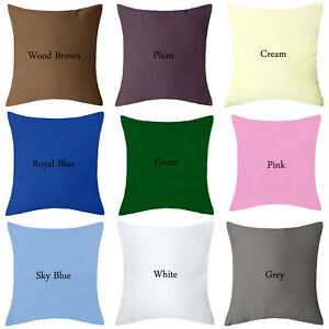 """Luxury Plain Cushion Covers For Sofa Car Chair Bedding Cushions 14"""",16"""",18"""""""