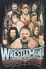 Wwe Wrestlemania S Men's T-Shirt Cena & 7 other Stars-Preowned Wash & Worn As Is