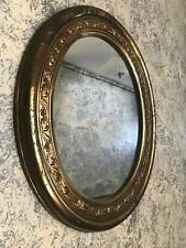 "Vintage MCM Mid Century Modern plastic gold wall mirror Hollywood Regency 19x16"""