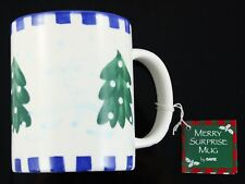 Blue Green White Tree Ganz Merry Surprise Mug Christmas Holiday Decoration