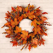 Artificial Maple Leaf Wreath Fall Wreath Wall Door Decoration Party Home Decor