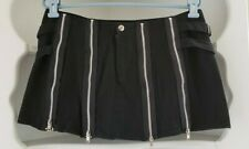 Tiger of London Mini Skirt Womens Size 16 Cotton Short Black Zips Buckles Punk