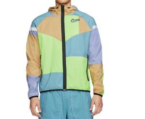 Nike Running Jacket Mens New Wildrunner Wild Run Lightweight Woven Full Zip