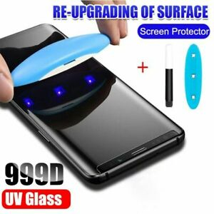 Full Liquid Tempered Glass Uv Screen Cover Protective Film For Samsung Galaxy