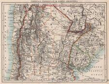 Uruguay Paraguay Argentina. River Plate Estados del norte Chile. Johnston 1897 Mapa