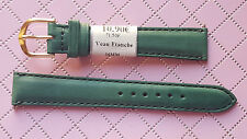 WATCH BAND BRACELET MONTRE CUIR VERITABLE VEAU // vert  ETANCHE  /16mm REF. MK38