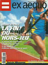 Ex aequo # 22 1998 Gay homosexualité LGBT sport gay games