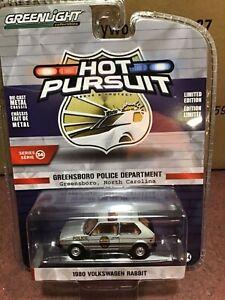 Greenlight Hot Pursuit 1980 Volkswagen Rabbit Greensboro NC Police