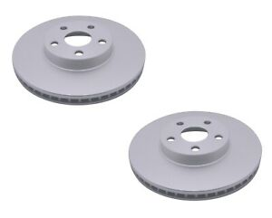 New Pair Set 2 Front Vented Coated Disc Brake Rotors ACDelco For Vibe Tc Corolla