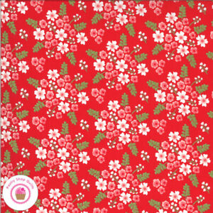 Moda HOMESTEAD 24092 14 Red Floral APRIL ROSENTHAL Quilt Fabric