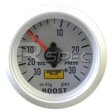 Car 52mm Silver Face Turbo Boost Gauge 30 PSI