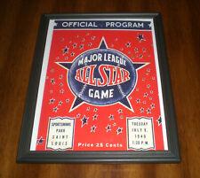 1940 ALL STAR GAME FRAMED PROGRAM COVER COLOR PRINT