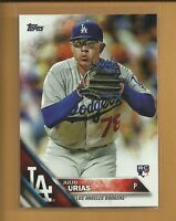 2016 Topps Update Julio Urias RC Rookie Card # US45 Los Angeles Dodgers Baseball
