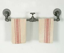 Industrial Heavy Duty Valve Towel Rack Kitchen or Bathroom Country Rustic NEW