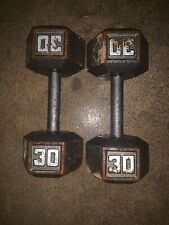 30 lb dumbells pair