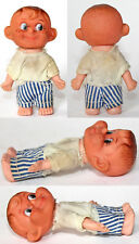 "Vintage 3.5"" German Ddr Perky Boy Rubber Doll 1970's"