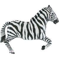 "XL 43"" Zebra Super Shape Mylar Foil Balloon Party Decoration"