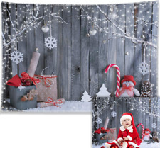 Allenjoy 7X5ft Durable Fabric Christmas Photography Backdrop Xmas Tapestry Snowm