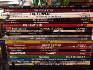 Lot of 21 William Shakespeare books Hamlet Julius Caesar Macbeth King Lear &more