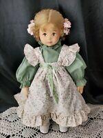 "Adorable Cloth Felt Lenci Doll 1980's VINTAGE LENCI? GIRL 19"" *no tags of brand*"
