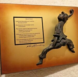 Art Baseball Poem KID AT PLAY Teamwork/Life Friends/ Chicago Sculpture Artwork