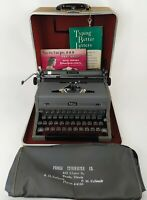 """1949 Royal """"Grey Magic"""" Quiet De Luxe w/ Case/Key/Manuals A-1914702 Hemmingway"""
