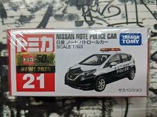 TOMICA #21 NISSAN NOTE POLICE CAR 1/63 SCALE NEW IN BOX