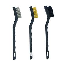 3Pcs Anti-static Metal Rust Clean Tools Mini Wire Brush Set Steel Brass Nylon Br