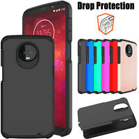 For Motorola Moto Z3/Z3 Play Armor Case Dual Layer Slim Shockproof Phone Cover