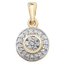 Runde Halsketten und Anhänger aus Gelbgold mit Diamanten