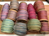 VINTAGE OMBRE SHADED RIBBON FLOWERWORK 1yd Made in France