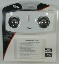 Digital Amplified Speaker For MP3 & CD Players DSP-26A White battery Powered NEW