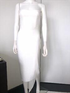 Alex Perry Hall White Crepe Dress Size 4 US